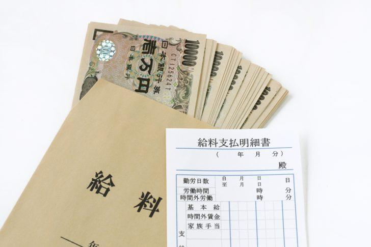 給料袋と明細