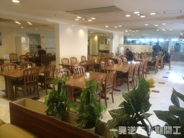 青葉寮の食堂